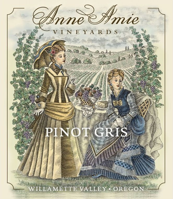 Anne Amie Pinot Gris 2018  Front Label