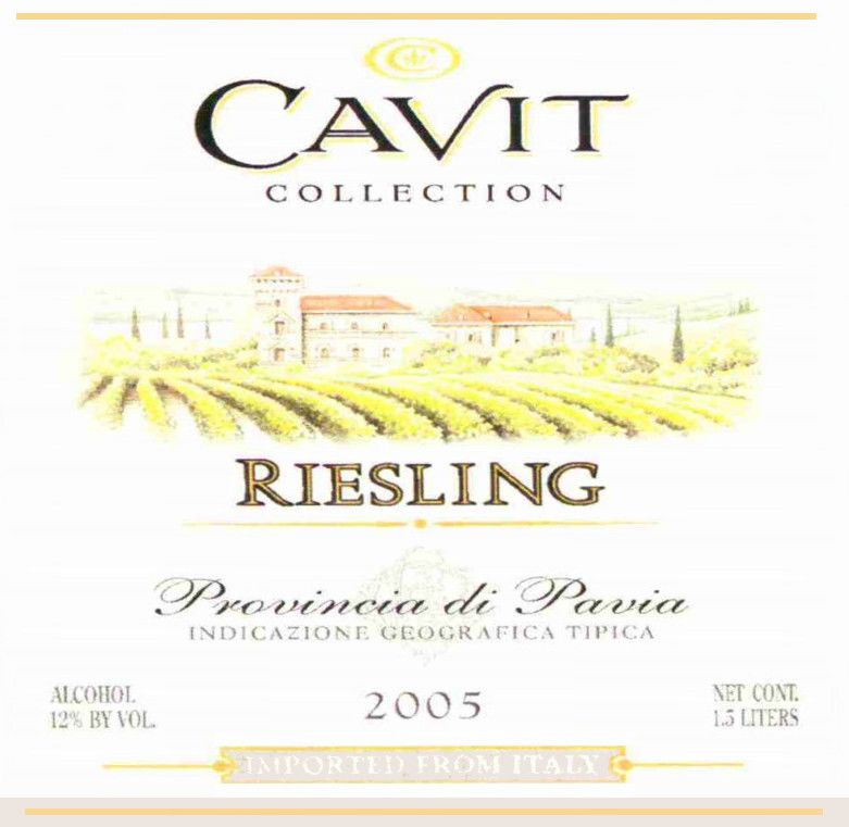 Cavit Provincia di Pavia Riesling 2005  Front Label