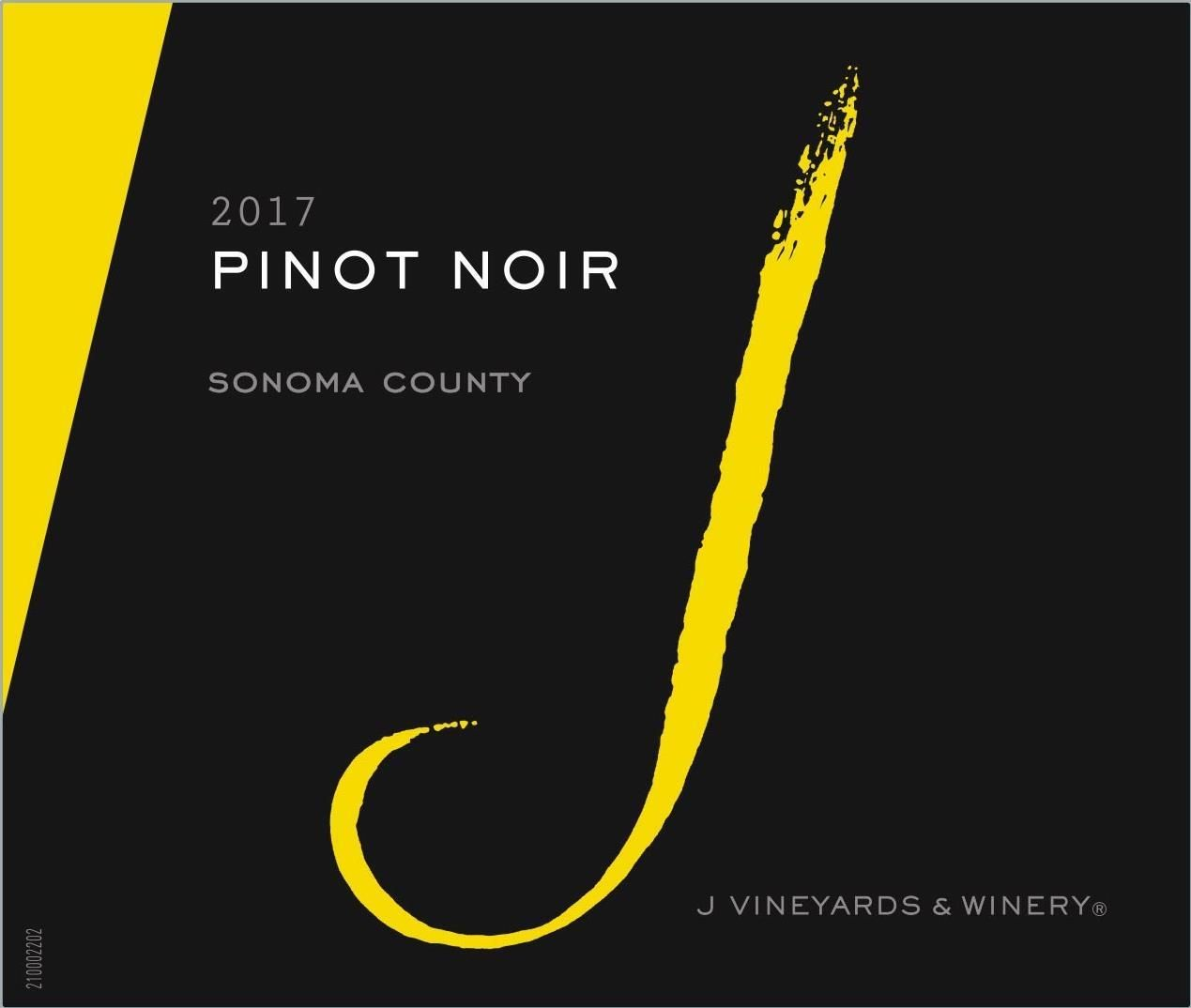 J Vineyards California Pinot Noir (375ML half-bottle) 2017  Front Label
