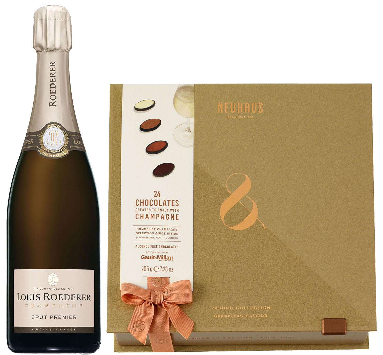 wine.com Louis Roederer Brut Premier & Neuhaus Pairing Collection – Sparkling Edition  Gift Product Image