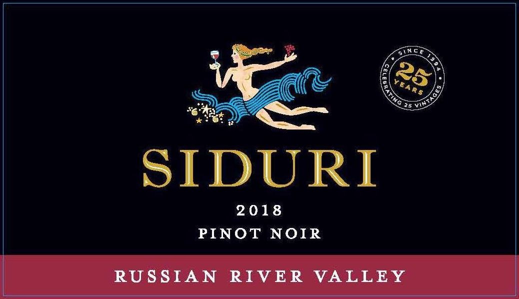 Siduri Russian River Pinot Noir 2018  Front Label