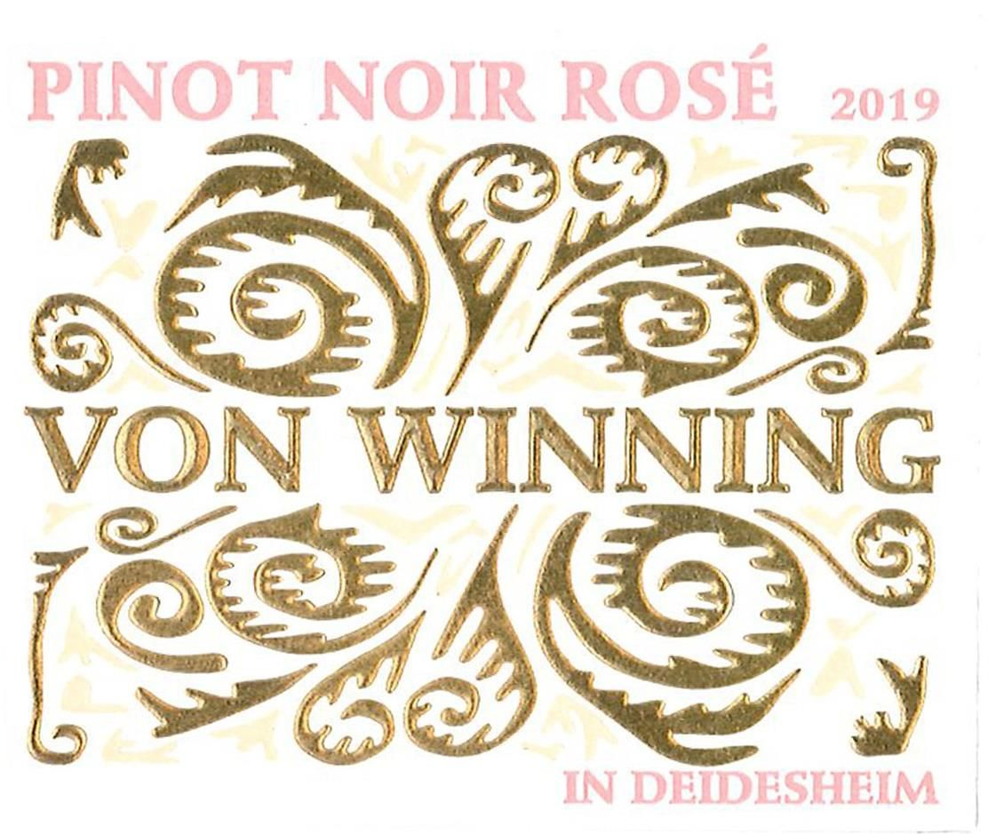 Von Winning Spatburgunder Rose 2019  Front Label