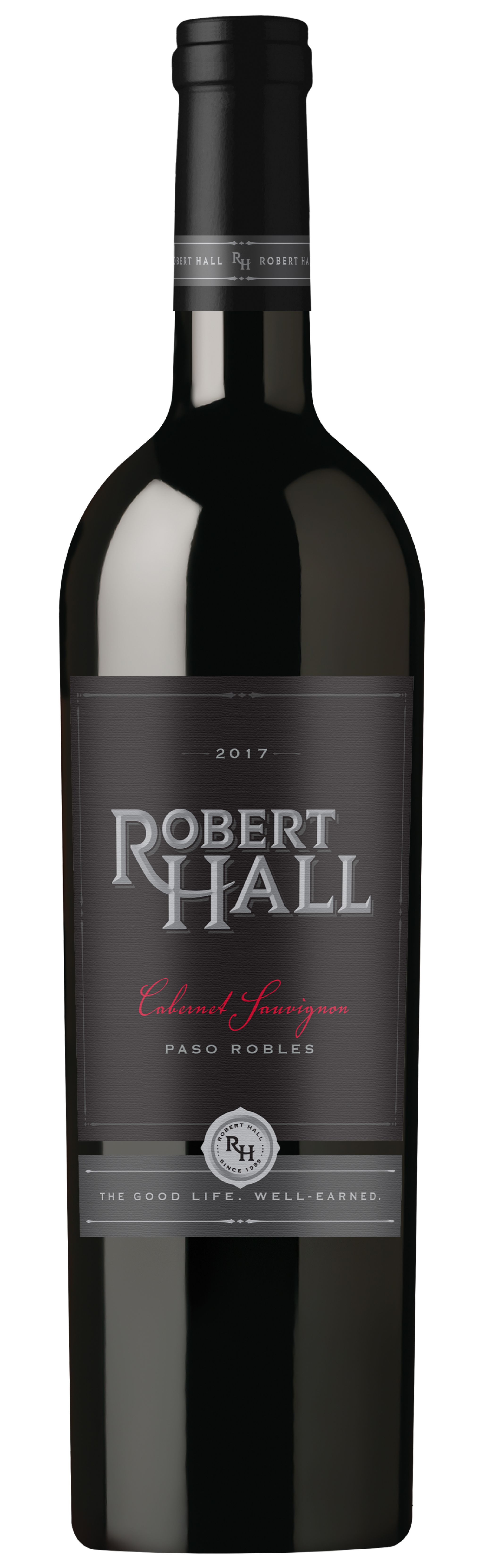 Robert Hall Cabernet Sauvignon 2017  Front Bottle Shot