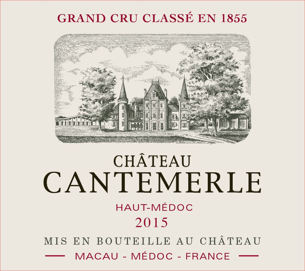 Chateau Cantemerle (375ML half-bottle) 2015  Front Label