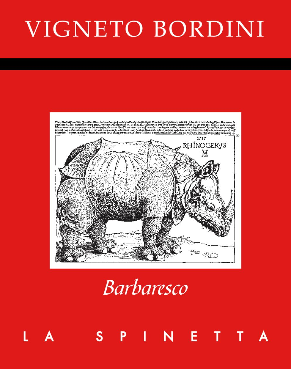 La Spinetta Barbaresco Bordini 2018  Front Label