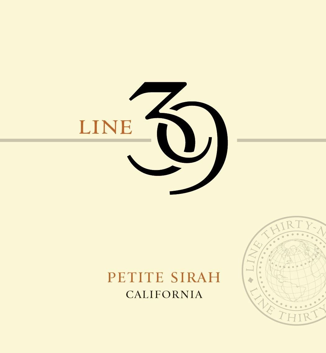 Line 39 Petite Sirah 2018  Front Label
