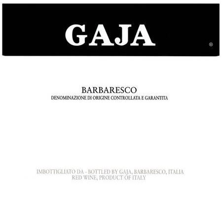 Gaja Barbaresco (375ML half-bottle) 2014  Front Label