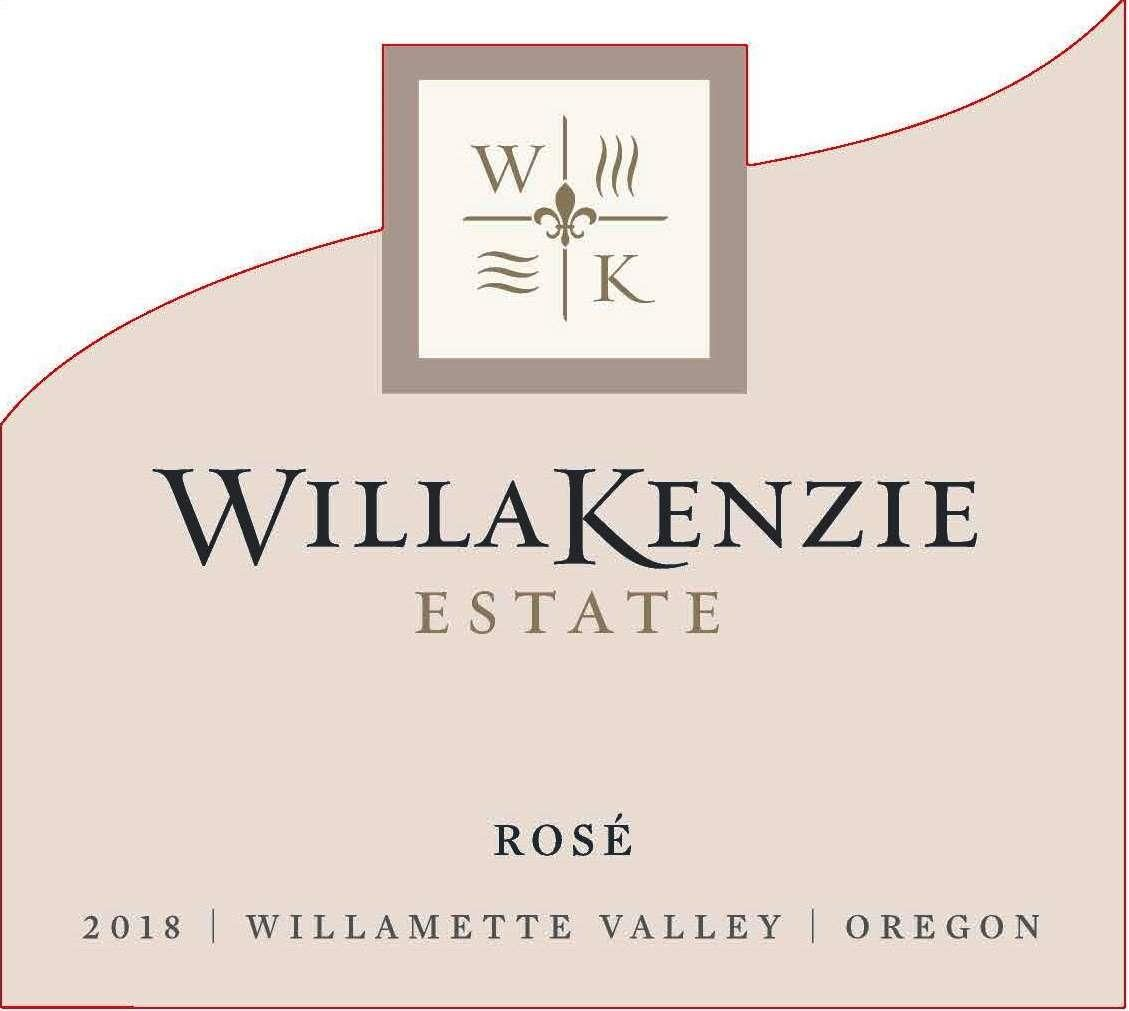 WillaKenzie Estate Rose 2018  Front Label