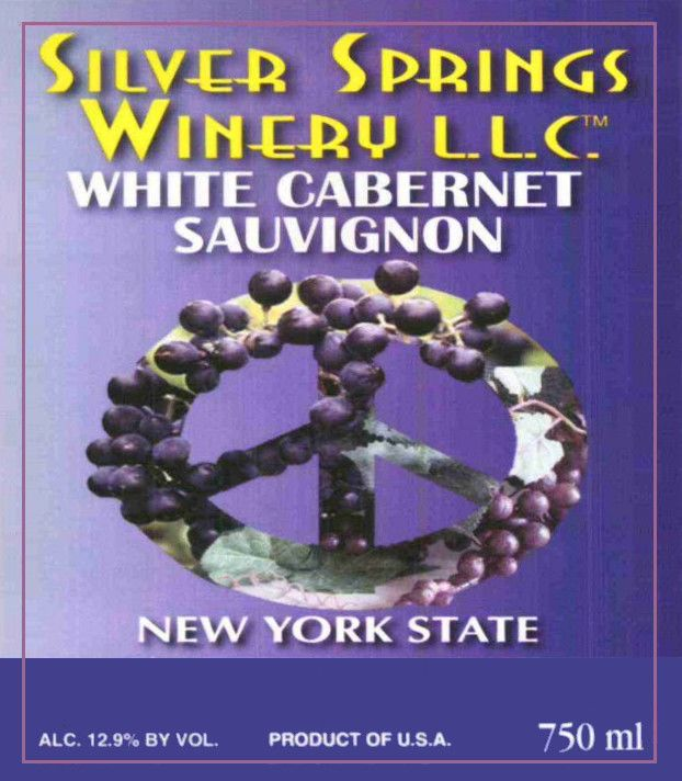 Silver Springs Winery White Cabernet Sauvignon 2009 Front Label