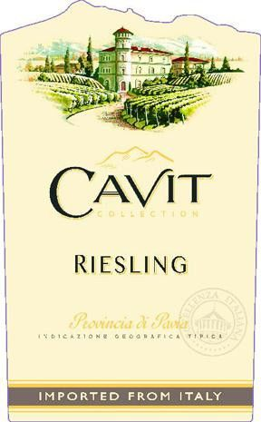 Cavit Provincia di Pavia Riesling 2015  Front Label