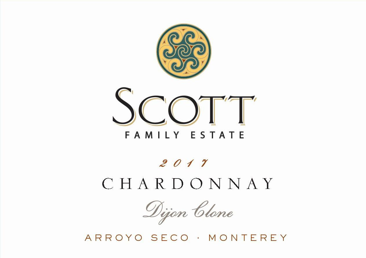 Scott Family Estate Arroyo Seco Chardonnay 2017  Front Label
