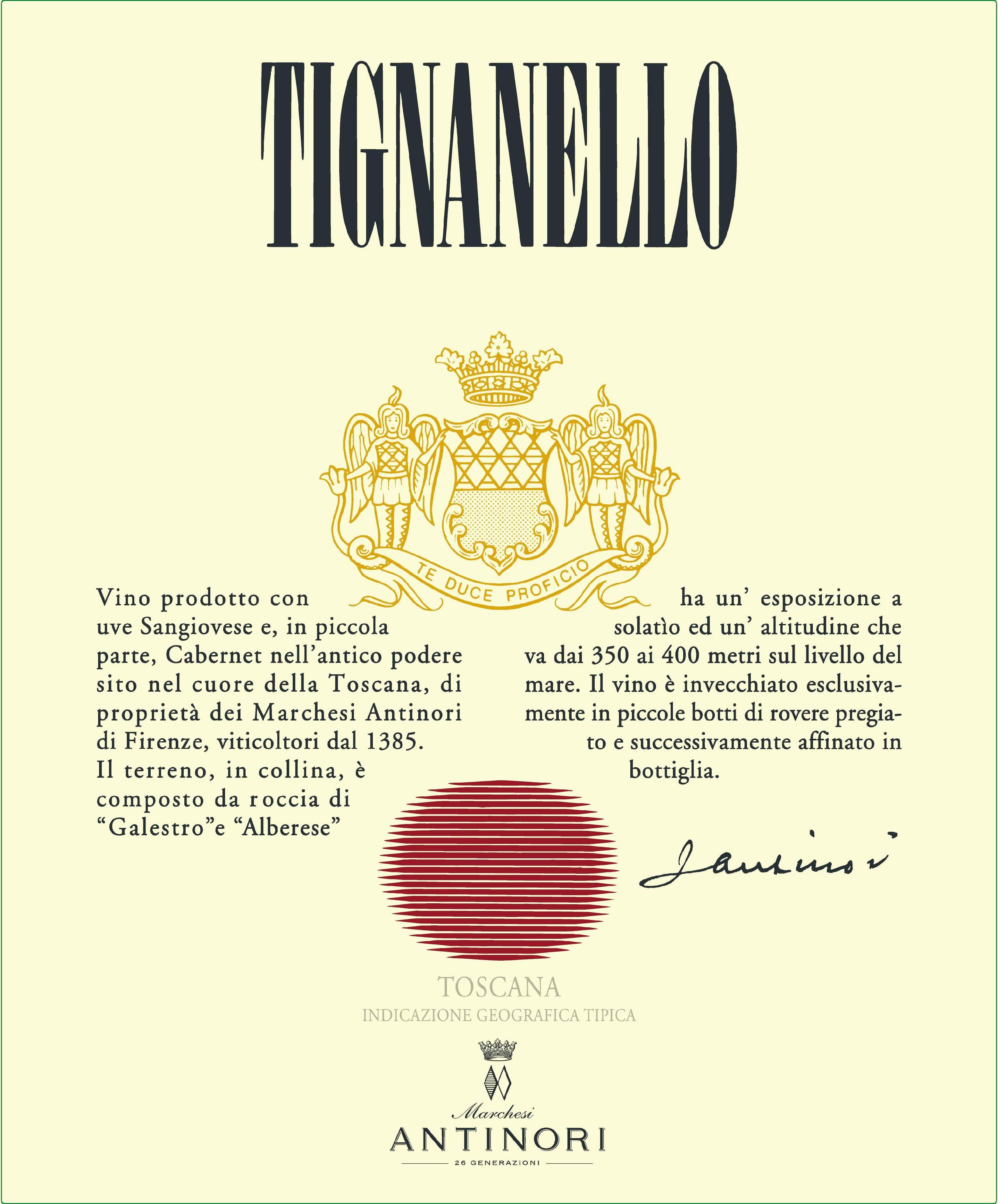 Antinori Tignanello 2017  Front Label