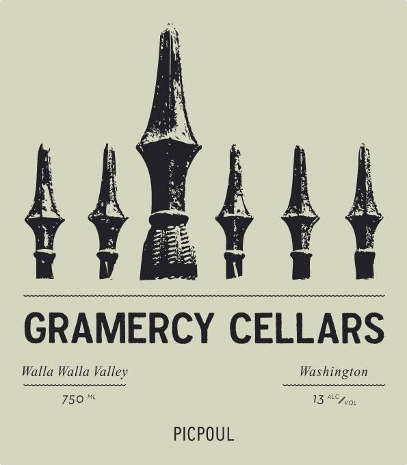 Gramercy Cellars Picpoul 2016 Front Label