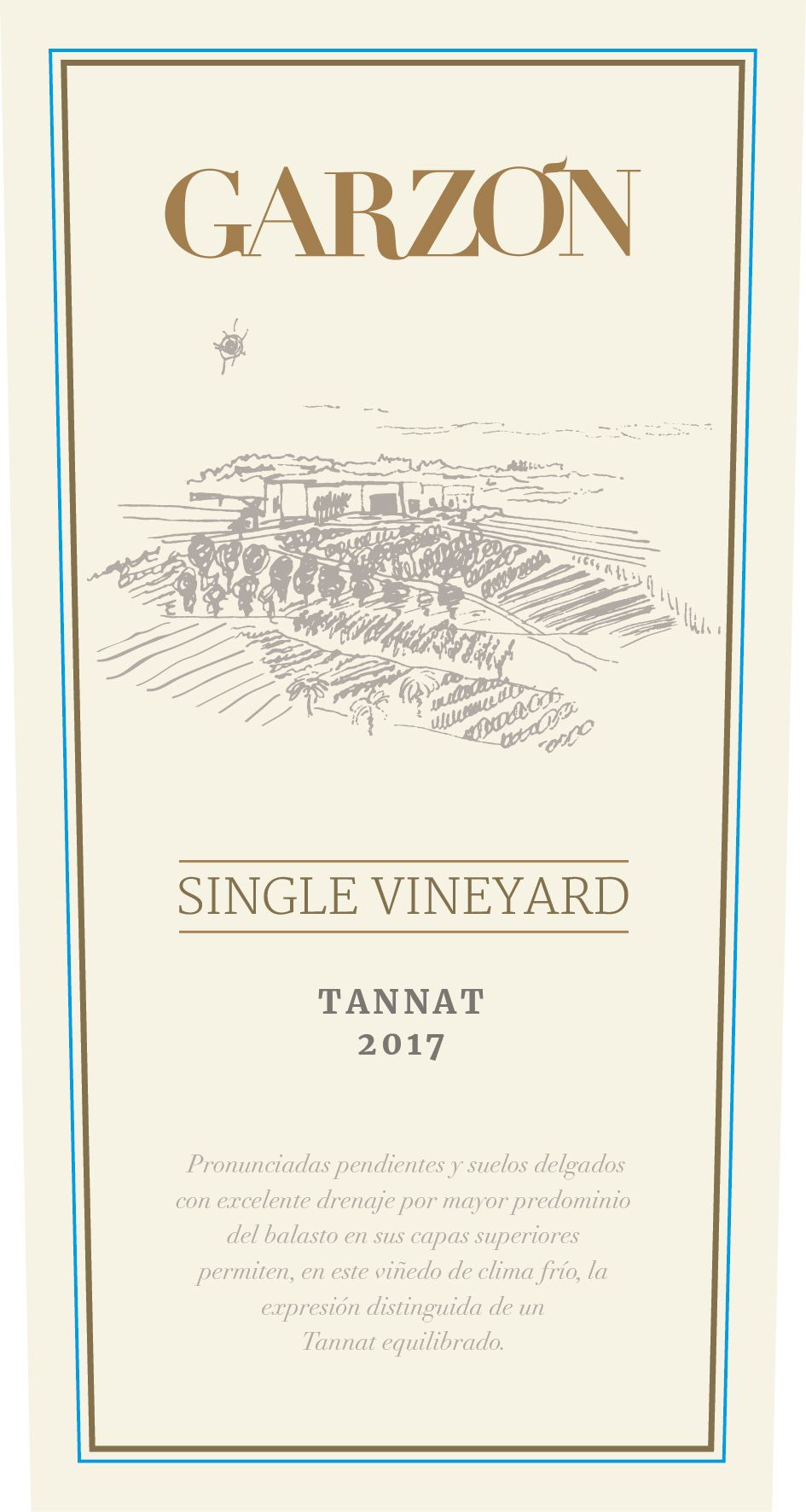 Bodega Garzon Uruguay Single Vineyard Tannat 2017  Front Label