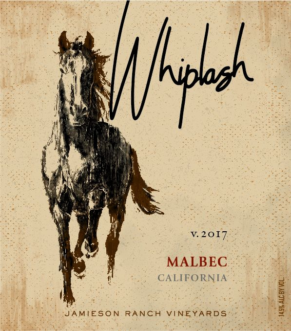 Jamieson Ranch Vineyards Whiplash Malbec 2017  Front Label