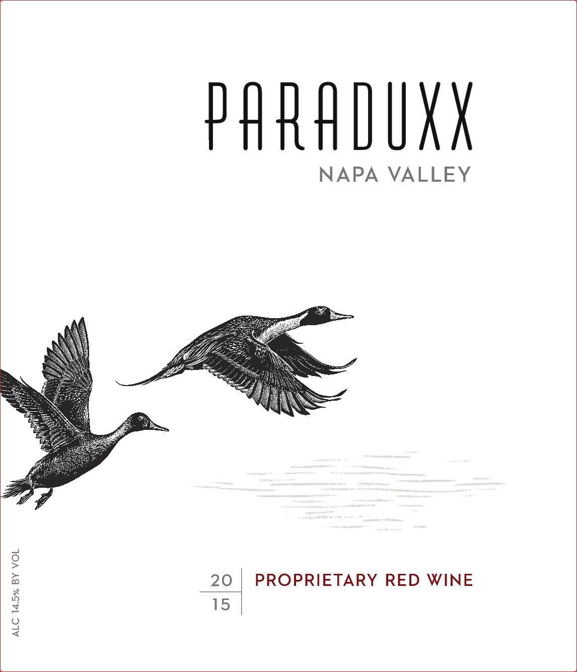 Paraduxx Proprietary Red (1.5L Magnum) 2015  Front Label