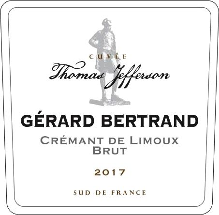 Gerard Bertrand Cuvee Thomas Jefferson Cremant de Limoux Brut Rose 2017  Front Label