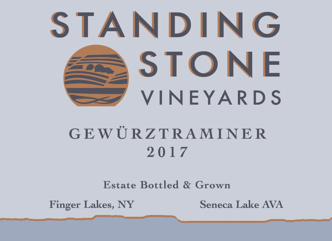 Standing Stone Vineyards Gewurztraminer 2017 Front Label