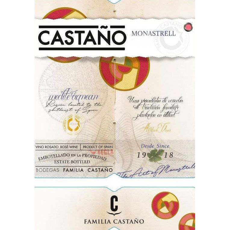 Bodegas Castano Rose 2017  Front Label