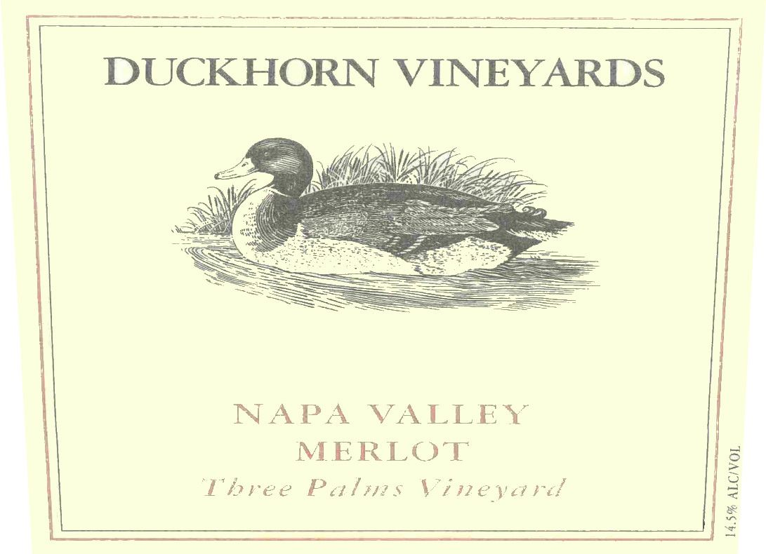 Duckhorn Three Palms Merlot (1.5 Liter Magnum) 2002 Front Label
