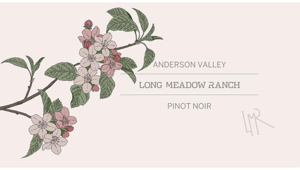 Long Meadow Ranch Anderson Valley Pinot Noir 2016  Front Label