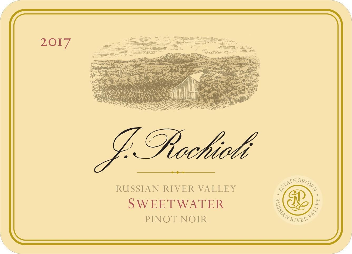Rochioli Sweetwater Pinot Noir 2017  Front Label