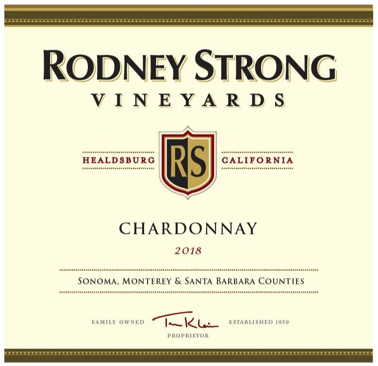Rodney Strong Chardonnay 2018  Front Label