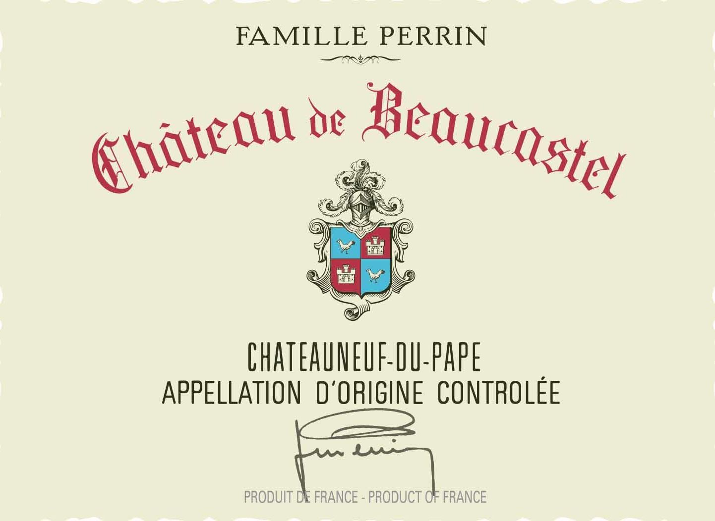 Chateau de Beaucastel Chateauneuf-du-Pape (375ML half-bottle) 2017 Front Label
