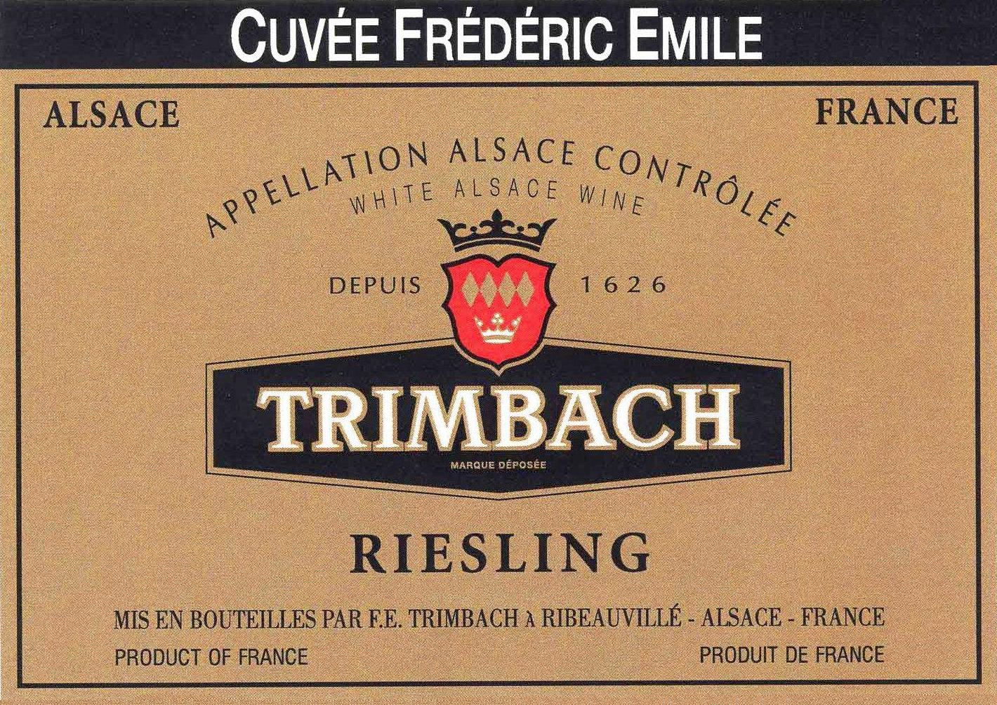 Trimbach Cuvee Frederic Emile Riesling 2011 Front Label