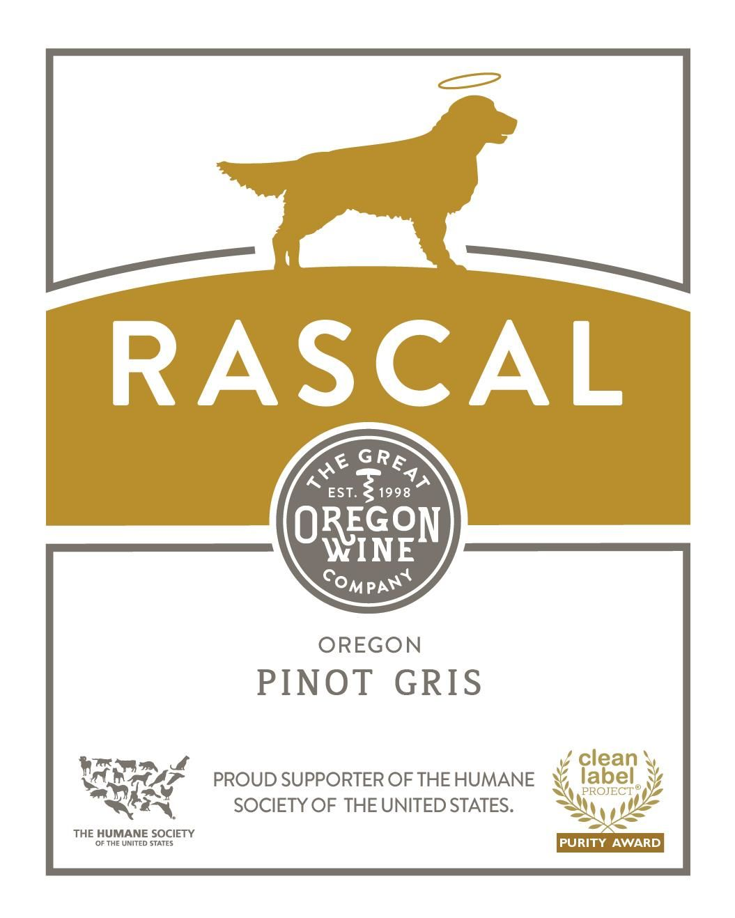 Great Oregon Wine Co. Rascal Pinot Gris 2018 Front Label