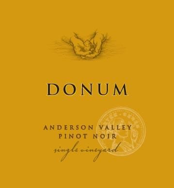 The Donum Estate Anderson Valley Estate Pinot Noir 2016 Front Label