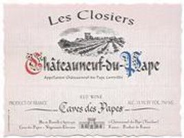 Caves des Papes Chateauneuf-du-Pape - Les Closiers (bin soiled label) 1998 Front Label