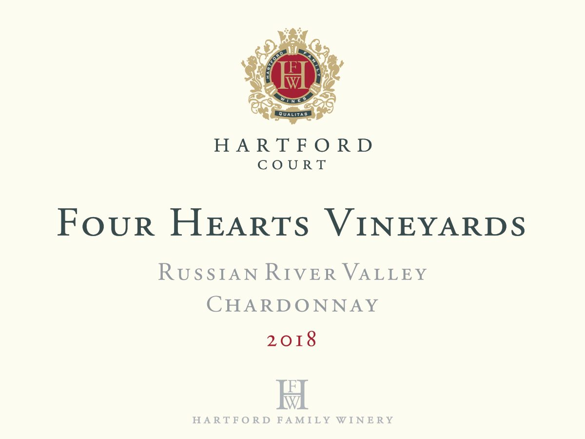 Hartford Court Four Hearts Chardonnay 2018  Front Label
