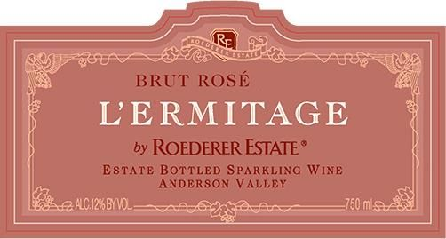 Roederer Estate L'Ermitage Brut Rose 2011 Front Label