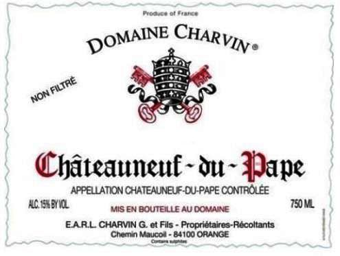 Domaine Charvin Chateauneuf-du-Pape 2018  Front Label