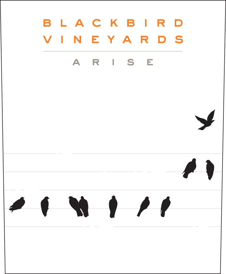 Blackbird Vineyards Arise Napa Valley Proprietary Red (375ML) 2015  Front Label