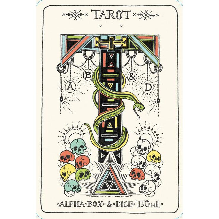 Alpha Box & Dice Tarot Grenache 2018  Front Label