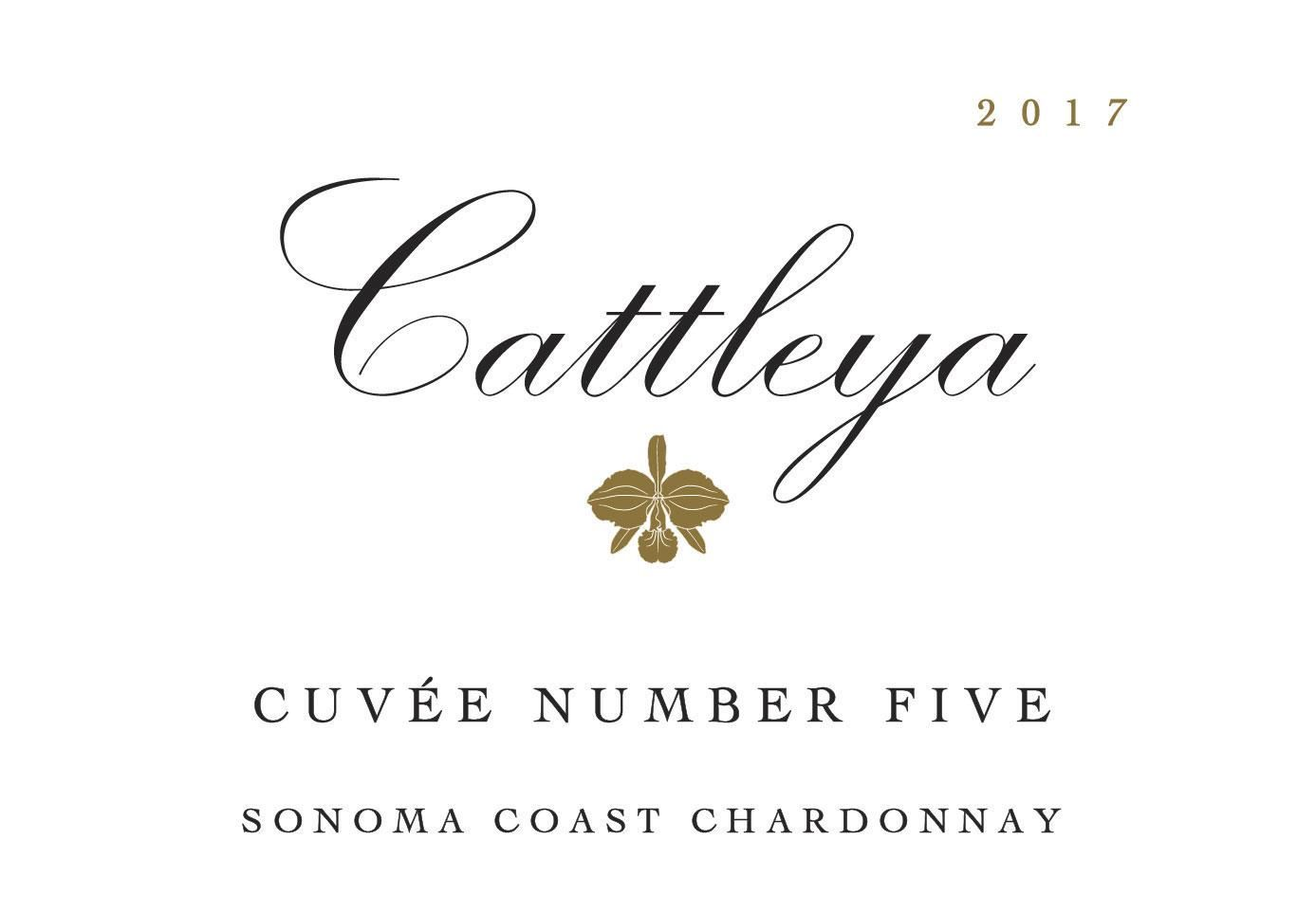 Cattleya Wines Cuvee No. 5 Chardonnay 2017  Front Label