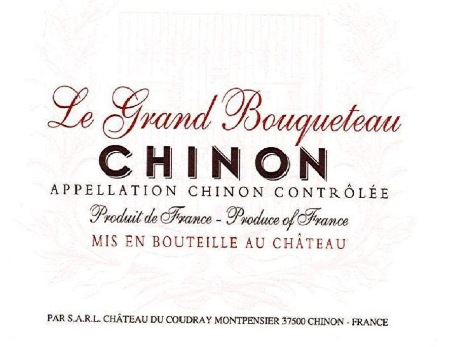 Chateau du Coudray-Montpensier Le Grand Bouqueteau Chinon 2018  Front Label