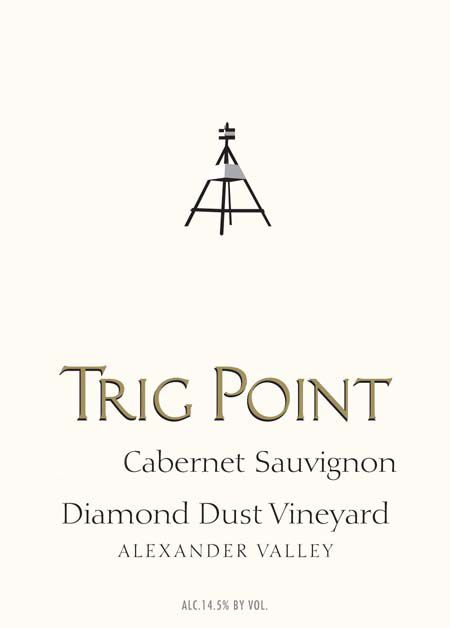 Trig Point Diamond Dust Vineyard Cabernet Sauvignon 2017  Front Label
