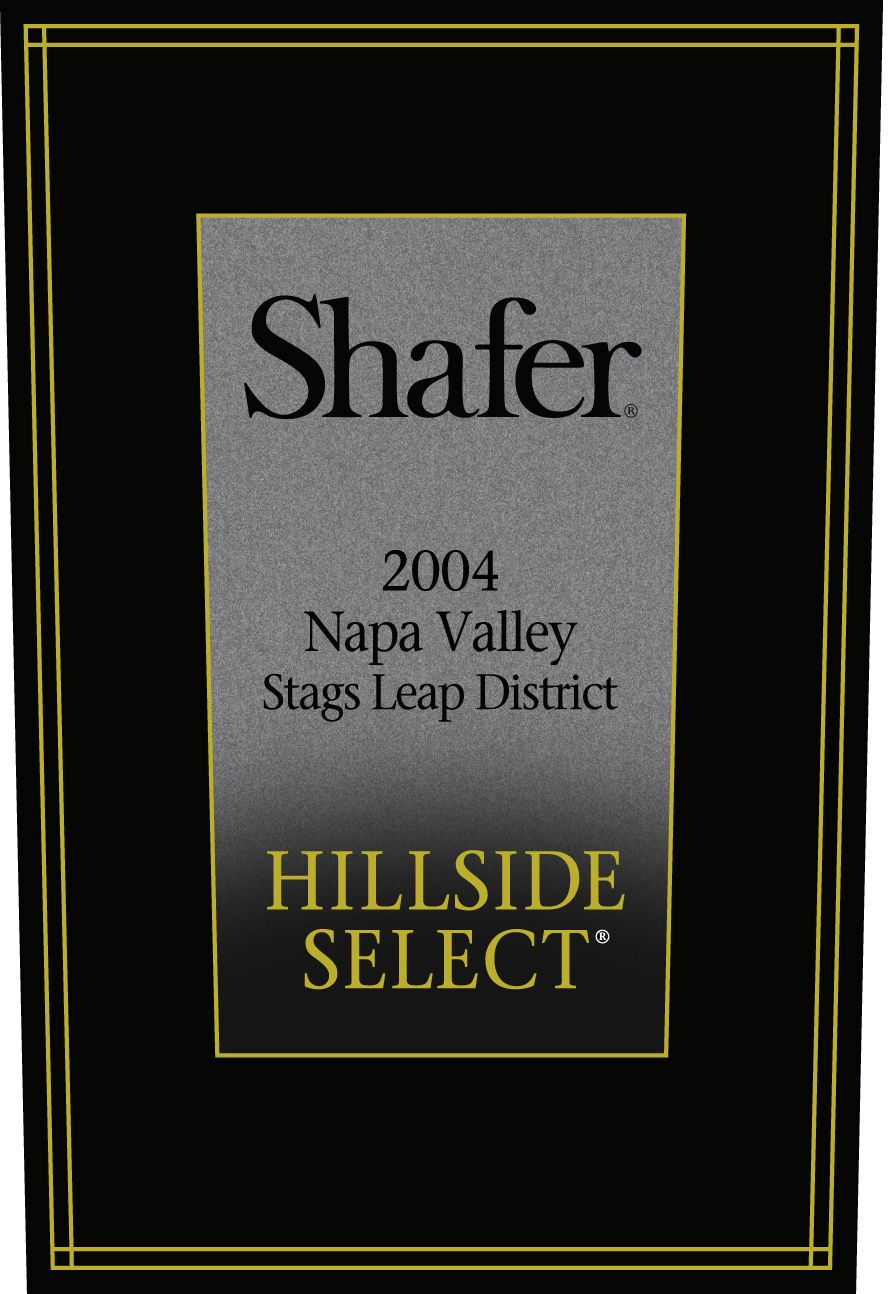 Shafer Hillside Select Cabernet Sauvignon (3 Liter Bottle) 2004 Front Label