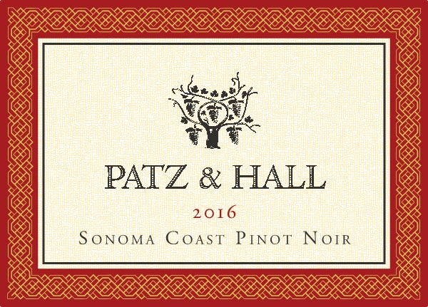 Patz & Hall Sonoma Coast Pinot Noir 2016 Front Label
