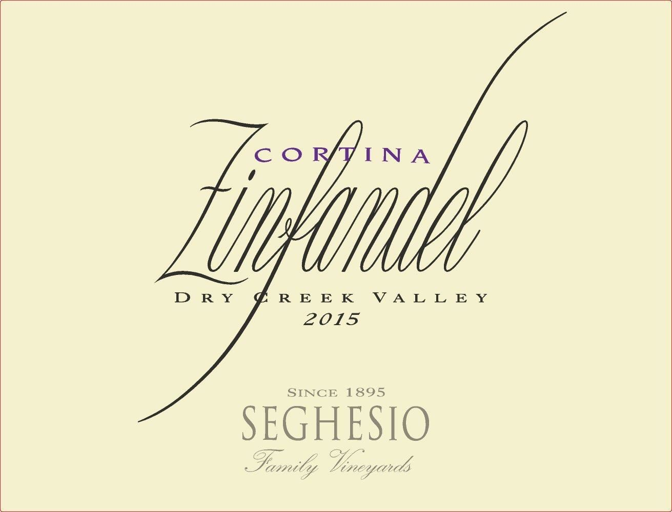 Seghesio Cortina Zinfandel 2015 Front Label