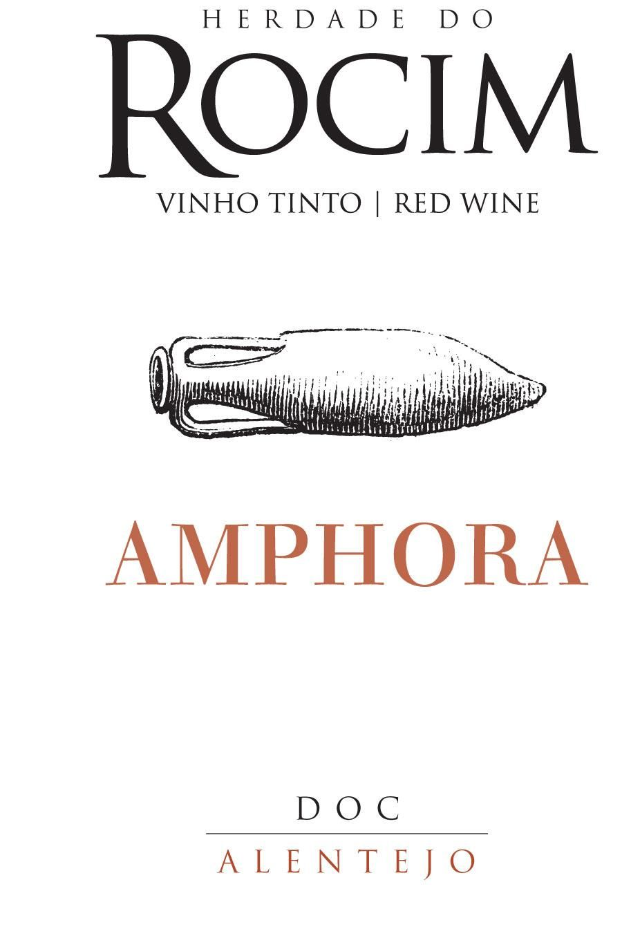 Herdade do Rocim Amphora Tinto 2019  Front Label