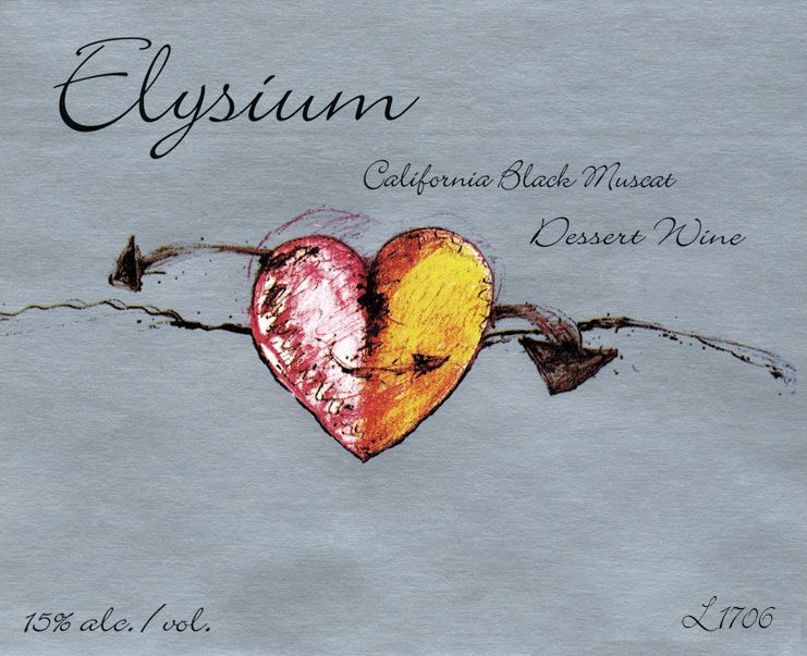Quady Elysium Black Muscat (375ML half-bottle) 2017  Front Label
