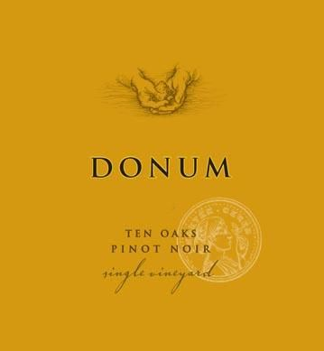 The Donum Estate Ten Oaks Russian River Valley Pinot Noir  2015 Front Label