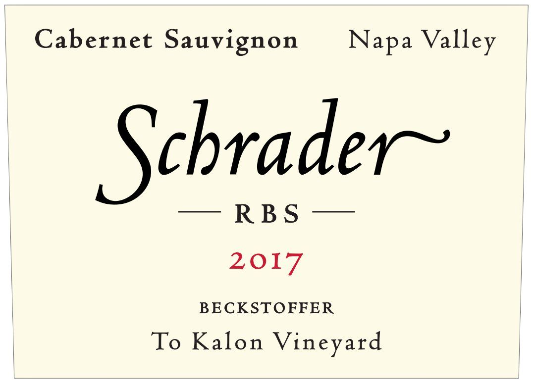 Schrader RBS To Kalon Vineyard Cabernet Sauvignon 2017  Front Label