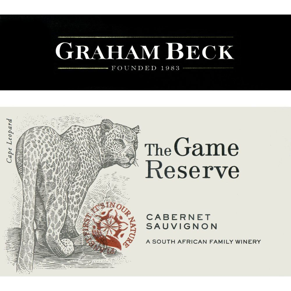 Graham Beck The Game Reserve Cabernet Sauvignon 2016  Front Label