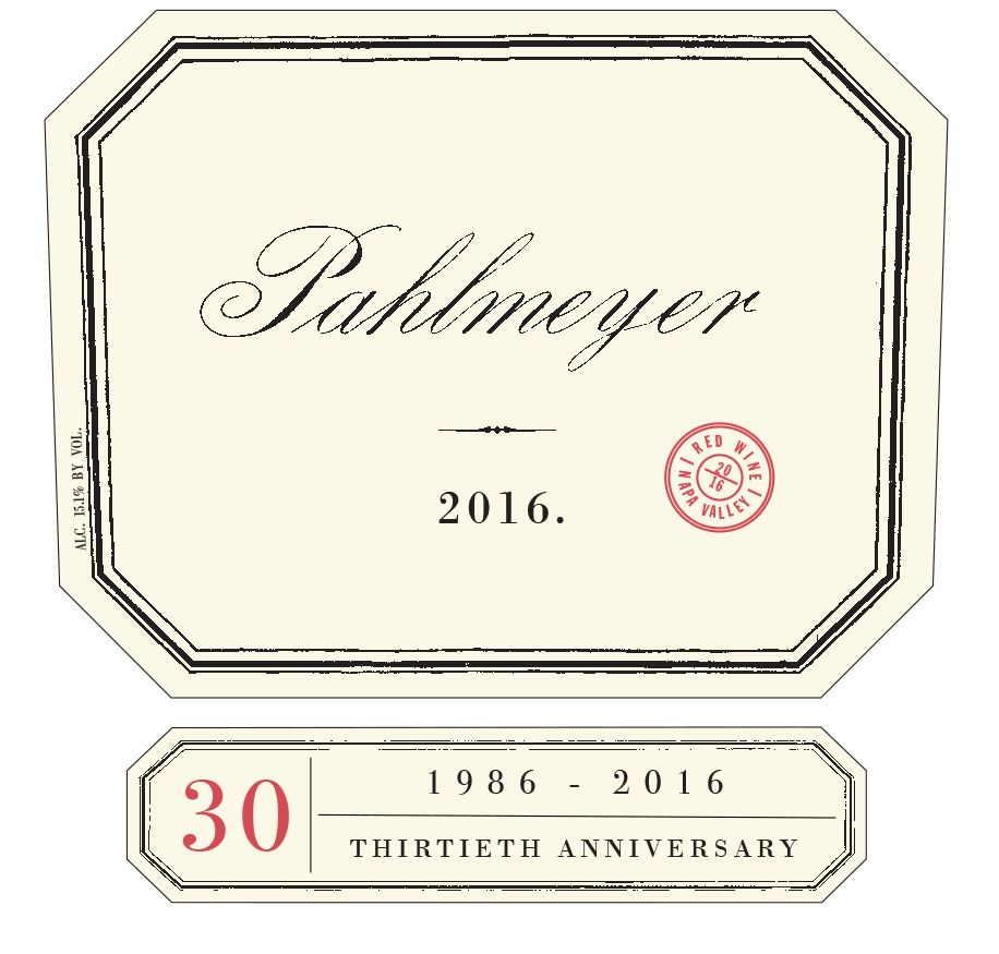 Pahlmeyer Napa Valley Proprietary Red 2016  Front Label