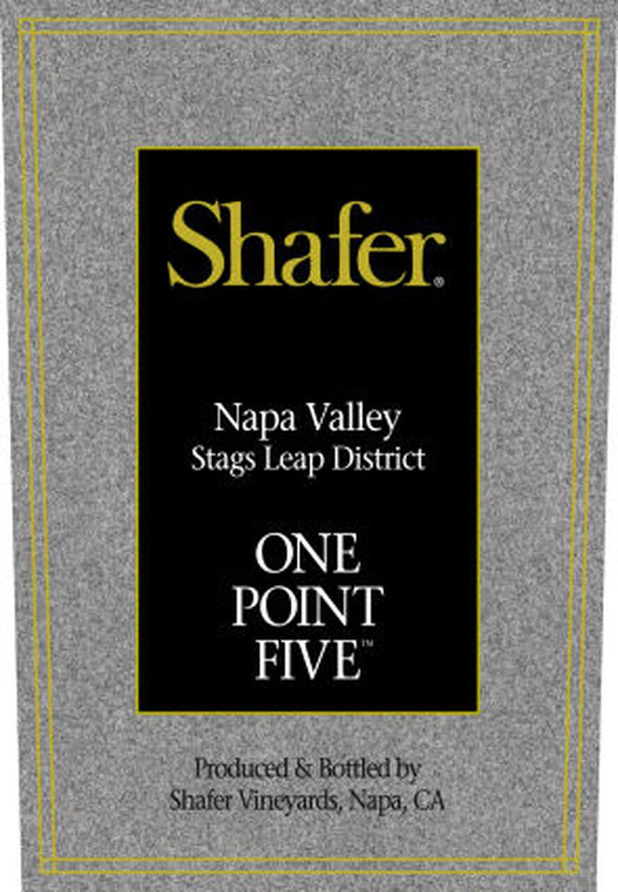 Shafer One Point Five Cabernet Sauvignon 2004  Front Label